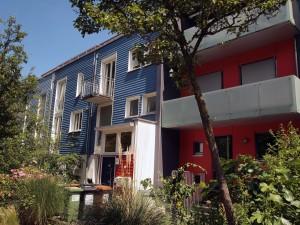 ヴォーバン地区のカラフルな住宅