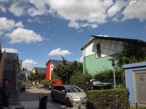 ヴォーバン地区のソーラー屋根の住宅